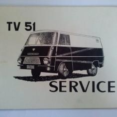 CARNET VOUCHER SERVICE pentru microbuz romanesc TV 51 - in limba engleza