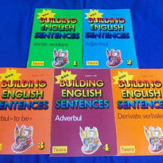 EUGENE J.HALL - BUILDING ENGLISH SENTENCES * 5 VOL. ( VERBE AUXILIARE * ADJECTIVUL * VERBUL * ADVERBUL * DERIVATE VERBALE ) - TEORA - 1995 - Curs Limba Engleza