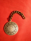 Medalion metal alb , Zodiile , d= 2,7 cm