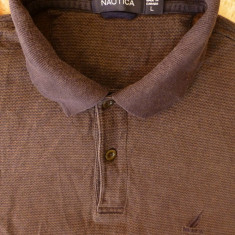 Tricou Nautica Made in Canada; marime L: 54 cm bust, 63.5 cm lungime - Tricou barbati Nautica, Marime: L, Culoare: Din imagine, Maneca scurta