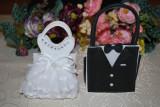 "Marturii nunta, Saculet din material textil ""Mire"" sau ""Mireasa""marturie sac"