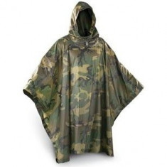 PONCHO CAMUFLAJ IMPERMEABIL PENTRU AIRSOFT / PAINTBALL - Echipament paintball