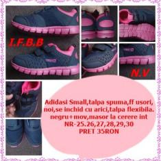 Adidasi pt fetite SMALL,NOI,NEGRU+MOV,,NR 25,28,, Fete