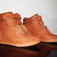 Pantofi sport Bershka - Pantof dama, Culoare: Camel, Marime: 38, Camel, Marime: 37.5