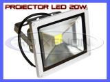 PROIECTOR REFLECTOR LED 20W ECHIVALENT 200W, 1800 LUMENI, IP65, 220V, ALB RECE, ZDM