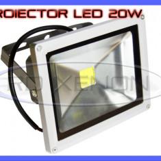 PROIECTOR REFLECTOR LED 20W ECHIVALENT 200W, 1800 LUMENI, IP65, 220V, ALB RECE - Corp de iluminat ZDM, Proiectoare