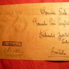 Plic circ. Nicolesti Jianu- Braila 1938, cu 8 timbre 2 lei uzuale Carol II si 1 Leu