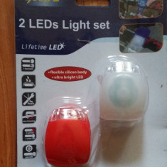 Leduri Lumini  Bicicleta din silicon 2 set