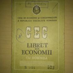 Libret de economii CEC completat in totalitate, emis 1969 - Pasaport/Document, Romania de la 1950