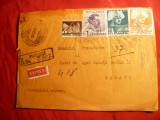 Plic circ.cu 1 Leu ,16 ,20 lei Uzuale Carol II, recomandat ,1939 ,Focsani -Galati