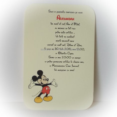 Invitatie botez - Mickey Mouse