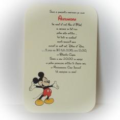 Invitatie botez - Mickey Mouse - Invitatii botez