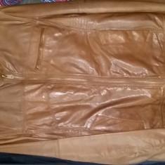 Vand geaca piele Bershka - Geaca barbati Bershka, Marime: XL, Culoare: Maro