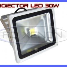 PROIECTOR REFLECTOR LED 30W ECHIVALENT 300W, 2700 LUMENI, IP65, 220V, ALB RECE - Corp de iluminat ZDM, Proiectoare