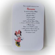 Invitatie pentru botez - Minnie - Invitatii botez