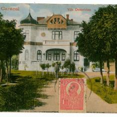 2065 - Olt, CARACAL, vila Demetrian - old postcard - used - TCV - Carte Postala Muntenia 1904-1918, Circulata, Printata