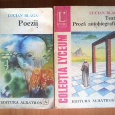 e1 Lucian Blaga - Poezii / Teatru. Proza autobiografica (2 volume)