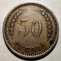 1.924 FINLANDA 50 PENNIA 1921, Europa, Cupru-Nichel