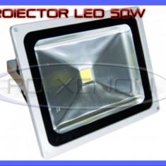 PROIECTOR REFLECTOR LED 50W ECHIVALENT 500W, 4500 LUMENI, IP65, 220V, ALB RECE - Corp de iluminat ZDM, Proiectoare