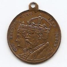 Medalie - Eduard VII 1902 Celebrarea incoronarii 24 mm (MC-61), Europa