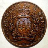 C.270 SAN MARINO 10 CENTESIMI 1893 30mm, Europa, Bronz