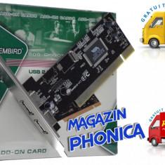 Placa adaptor interfata PCI cu pentru 2 porturi USB 2.0 Gembrit