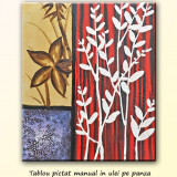 Tablou floral - Esenta - 60x50cm, LIVRARE GRATUITA 24-48h - Tablou autor neidentificat, Altul