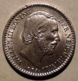 C.032 OLANDA WILLEM III 10 CENTS 1882 XF/AUNC 1,4g, Europa, Argint