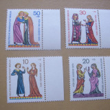 Germania   Berlin   1970  trubaduri   MI 354-357   MNH
