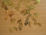 Set 10 decoratiuni aurii jumatati fluturi pentru unghii nail art manichiura