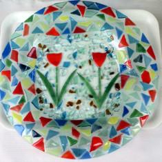 Centru de masa  platou sticla  Murano gen altorelief