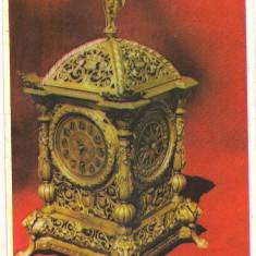 #carte postala(ilustrata)-PLOIESTI-Muzeul ceasului-Ceas RENAISSANCE-Germania sec XVIII, din casa pictorului Th.Aman - Carte Postala Muntenia dupa 1918, Necirculata