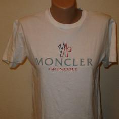 Tricou Moncler - Tricou dama, Marime: S/M, Imprimeu grafic, Maneca scurta, Casual, Bumbac