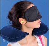 Set Confort Voiaj 3 in 1: perna gonflabila, masca si dopuri