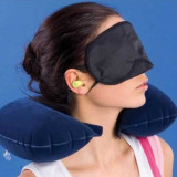 Set Confort Voiaj 3 in 1: perna gonflabila, masca si dopuri - Perna masaj