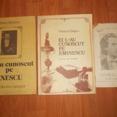 Lot 2 Carti Educative: Ei l-au cunoscut pe Eminescu, 1984 + Ei l-au cunoscut pe Enescu, 1987 (Mihai Eminescu, George Enescu) De colectie! Anii 80-90. - Carte educativa
