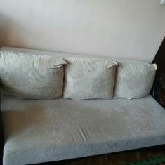 Canapea si fotoliu in set, Canapele extensibile, Din stofa
