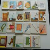 Jetoane cu litere, vintaje, vechi din 1970-1980, literele alfabetului A-Z FOARTE RARE! pentru colectionari, invatamant educatoare invatatoare 44 buc