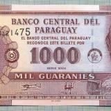 1334 BANCNOTA - PARAGUAY - 1 000 GUARANIES - anul 2004 -SERIA 03321475-starea care se vede