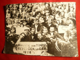 Fotografie din timpul Grevei Generale de la CFR 1920 -copie veche