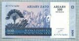 1332 BANCNOTA  - MADAGASCAR - 100 ARIARY(500 FRANCS)  - anul 2004 -SERIA 1174169 -starea care se vede