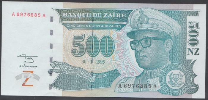 Zair 500 Zaires 1995 UNC