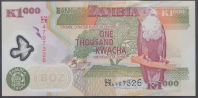 Zambia 1000 Kwacha 2009 UNC foto