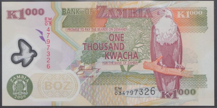 Zambia 1000 Kwacha 2009 UNC
