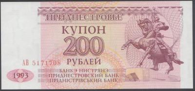 Transnistria 200 Ruble 1993 UNC foto