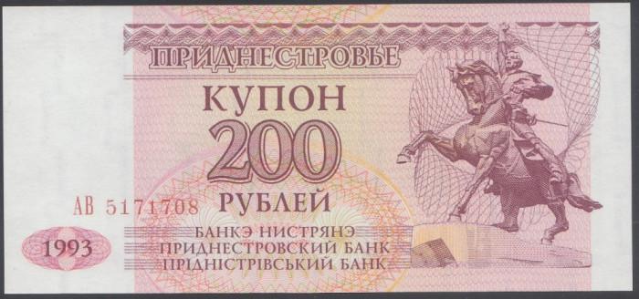 Transnistria 200 Ruble 1993 UNC