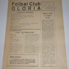 Program meci fotbal GLORIA BUZAU - JIUL PETROSANI 17.06.1979