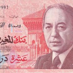 Bancnota Maroc 10 Dirhams 1987 - P60b UNC - bancnota africa