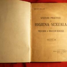 3 carti medicina colegate ,cca.1920 -D.Meller si F.Grunfeld -Igiena sexuala ,Ajutor Raniti.