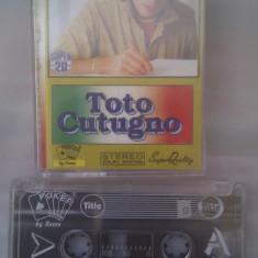 CASETA AUDIO TOTO CUTUGNO - Muzica Dance, Casete audio